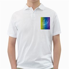 Colorful Guilloche Spiral Pattern Background Golf Shirts