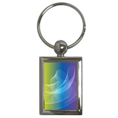 Colorful Guilloche Spiral Pattern Background Key Chains (Rectangle)