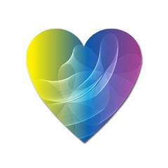 Colorful Guilloche Spiral Pattern Background Heart Magnet