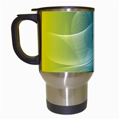 Colorful Guilloche Spiral Pattern Background Travel Mugs (White)