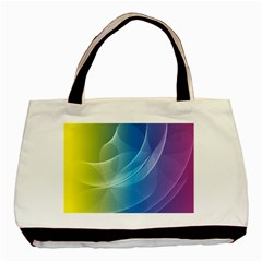 Colorful Guilloche Spiral Pattern Background Basic Tote Bag