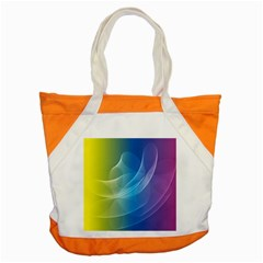 Colorful Guilloche Spiral Pattern Background Accent Tote Bag