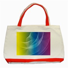 Colorful Guilloche Spiral Pattern Background Classic Tote Bag (Red)