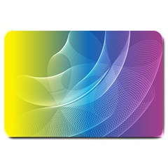 Colorful Guilloche Spiral Pattern Background Large Doormat