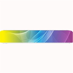Colorful Guilloche Spiral Pattern Background Small Bar Mats