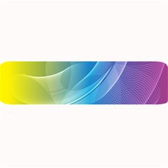 Colorful Guilloche Spiral Pattern Background Large Bar Mats