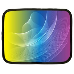 Colorful Guilloche Spiral Pattern Background Netbook Case (Large)