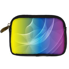 Colorful Guilloche Spiral Pattern Background Digital Camera Cases