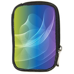 Colorful Guilloche Spiral Pattern Background Compact Camera Cases
