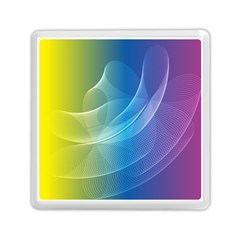 Colorful Guilloche Spiral Pattern Background Memory Card Reader (square)