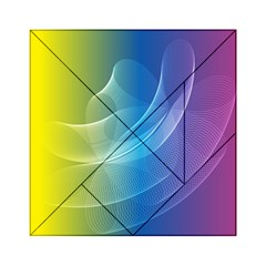 Colorful Guilloche Spiral Pattern Background Acrylic Tangram Puzzle (6  X 6 )