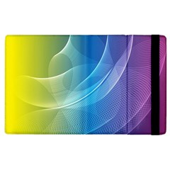 Colorful Guilloche Spiral Pattern Background Apple iPad 2 Flip Case