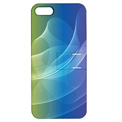 Colorful Guilloche Spiral Pattern Background Apple iPhone 5 Hardshell Case with Stand