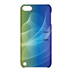 Colorful Guilloche Spiral Pattern Background Apple Ipod Touch 5 Hardshell Case With Stand