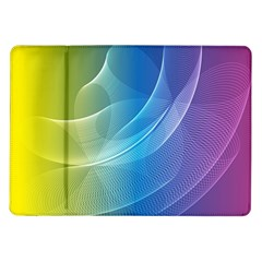 Colorful Guilloche Spiral Pattern Background Samsung Galaxy Tab 10.1  P7500 Flip Case