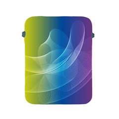 Colorful Guilloche Spiral Pattern Background Apple iPad 2/3/4 Protective Soft Cases