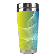 Colorful Guilloche Spiral Pattern Background Stainless Steel Travel Tumblers