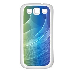 Colorful Guilloche Spiral Pattern Background Samsung Galaxy S3 Back Case (White)