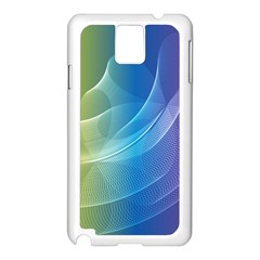 Colorful Guilloche Spiral Pattern Background Samsung Galaxy Note 3 N9005 Case (White)