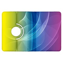 Colorful Guilloche Spiral Pattern Background Kindle Fire HDX Flip 360 Case