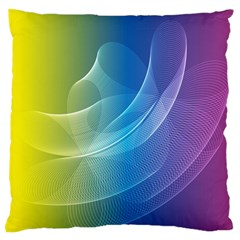Colorful Guilloche Spiral Pattern Background Large Flano Cushion Case (Two Sides)