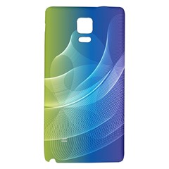 Colorful Guilloche Spiral Pattern Background Galaxy Note 4 Back Case