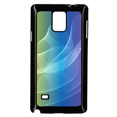Colorful Guilloche Spiral Pattern Background Samsung Galaxy Note 4 Case (Black)