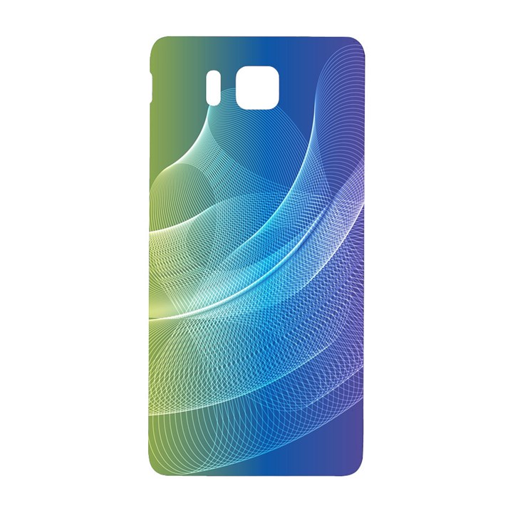 Colorful Guilloche Spiral Pattern Background Samsung Galaxy Alpha Hardshell Back Case