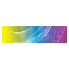 Colorful Guilloche Spiral Pattern Background Satin Scarf (Oblong)