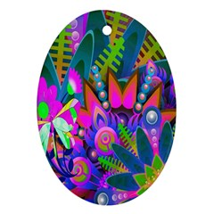 Wild Abstract Design Ornament (oval)