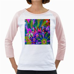 Wild Abstract Design Girly Raglans