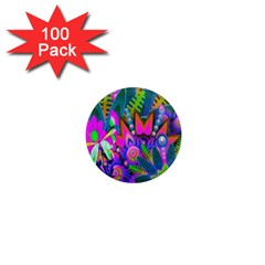 Wild Abstract Design 1  Mini Magnets (100 Pack)