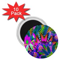 Wild Abstract Design 1 75  Magnets (10 Pack)