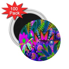 Wild Abstract Design 2 25  Magnets (100 Pack)