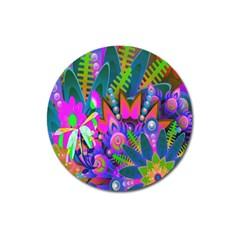 Wild Abstract Design Magnet 3  (Round)