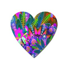 Wild Abstract Design Heart Magnet