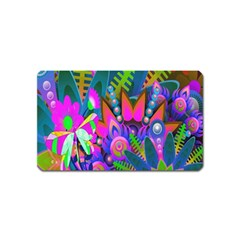 Wild Abstract Design Magnet (Name Card)
