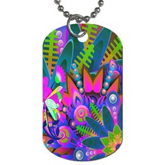 Wild Abstract Design Dog Tag (one Side)