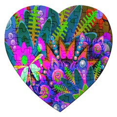 Wild Abstract Design Jigsaw Puzzle (Heart)