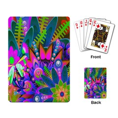 Wild Abstract Design Playing Card