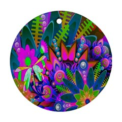 Wild Abstract Design Round Ornament (Two Sides)