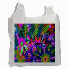 Wild Abstract Design Recycle Bag (one Side)