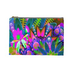 Wild Abstract Design Cosmetic Bag (large)