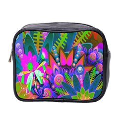 Wild Abstract Design Mini Toiletries Bag 2 Side