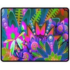 Wild Abstract Design Fleece Blanket (medium)