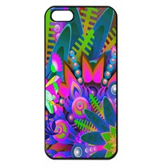 Wild Abstract Design Apple Iphone 5 Seamless Case (black)