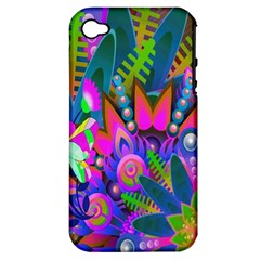 Wild Abstract Design Apple iPhone 4/4S Hardshell Case (PC+Silicone)