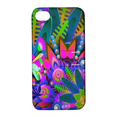 Wild Abstract Design Apple iPhone 4/4S Hardshell Case with Stand