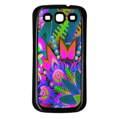 Wild Abstract Design Samsung Galaxy S3 Back Case (Black)
