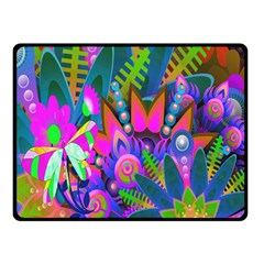 Wild Abstract Design Double Sided Fleece Blanket (Small)